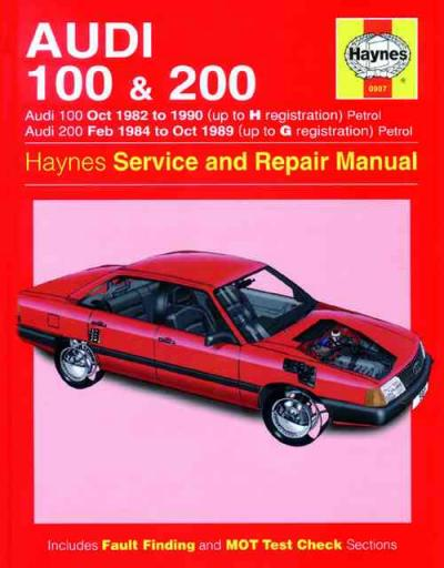 Audi 100 200 1982 1990 Haynes Service Repair Manual    UK