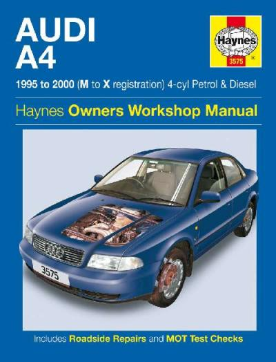 Audi A4 Petrol Diesel 1995 2000 Haynes Service Repair Manual    UK