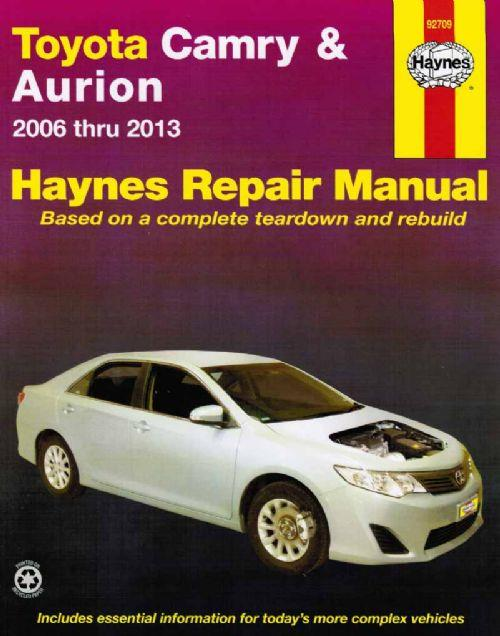Toyota Camry Aurion 2006-2013 Haynes Workshop Manual