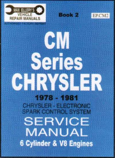 Chrysler CM Series 1978 1981 Service Manual Book 1