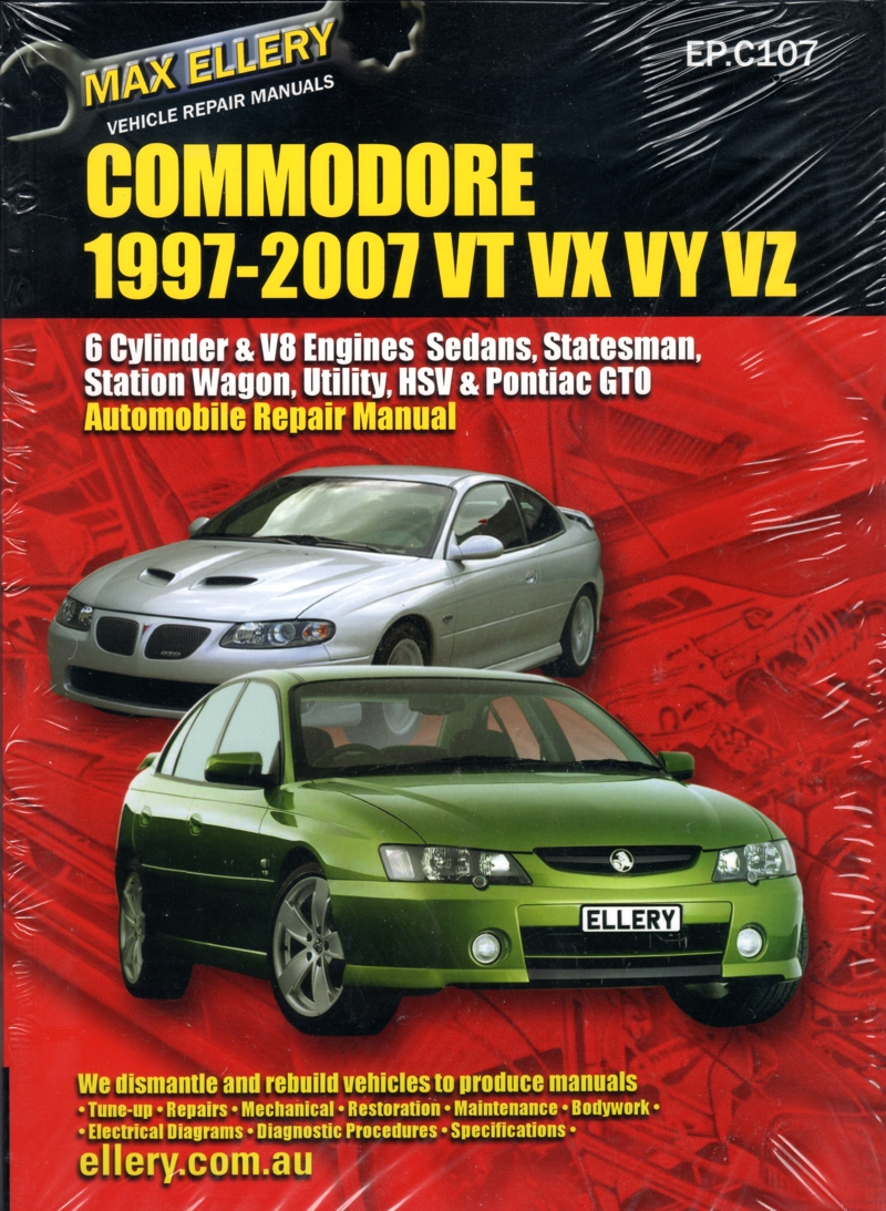 Holden Commodore VT VX VY VZ repair manual 1997 - 2007 - Ellery - NEW
