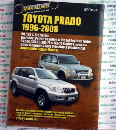 Toyota Prado 1996 - 2008 Ellery Repair Manual - NEW