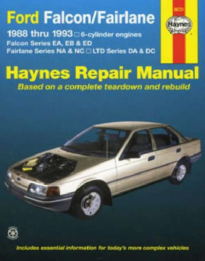 Ford Falcon EA EB ED 6 cyl 1988 1993 Haynes Service Repair Manual