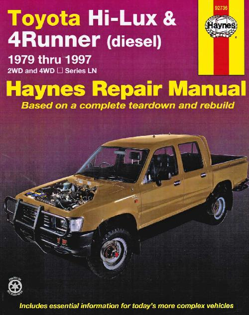 Toyota Hi Lux 4Runner Diesel 1979-1997 Haynes Service Workshop Repair Manual