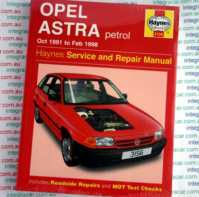 Holden Vauxhall Opel Astra 1991 1998 Haynes Service Repair Manual