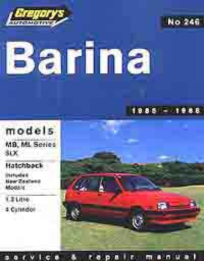Holden Barina MB ML 1985 1988 Gregorys Service Repair Manual
