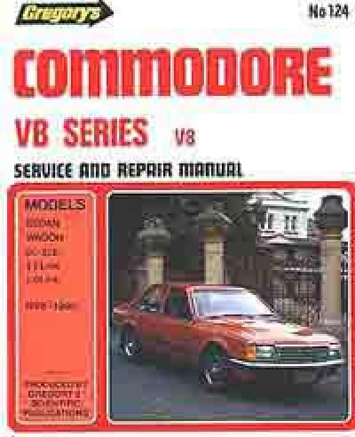 Holden Commodore VB 8 cyl 1978 1980 Gregorys Service Repair Manual