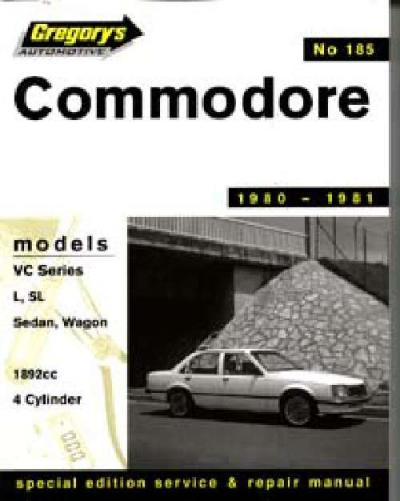 Holden Commodore VC 4 cyl 1980 1981 Gregorys Service Repair Manual