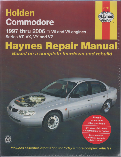 Holden Commodore VT to VZ II 1997-2006 Haynes Service Repair Manual