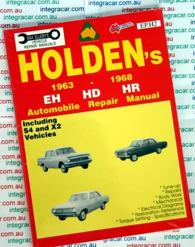 Holden Eh Hd Hr Repair Manual 1963-1968 Ellery New