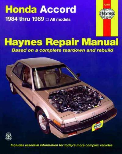 Honda Accord 1984 1989 Haynes Service Repair Manual