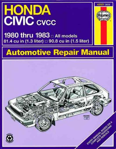 Honda Civic 1300 1500 CVCC 1980 1983 Haynes Service Repair Manual
