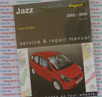 Honda Jazz 2002 2008 Gregorys Service Repair Manual