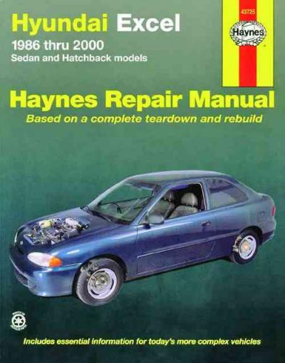 Hyundai Excel 1986 2000 Haynes Service Repair Manual