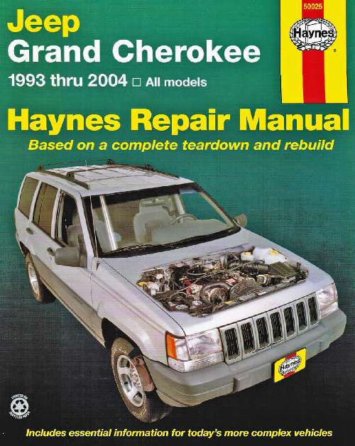 Jeep Grand Cherokee Haynes Service Repair Manual  1993-2004