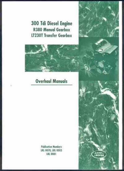 Land Rover Diesel 300 Tdi Engine Transmission Overhaul Manual   Brooklands Books Ltd UK