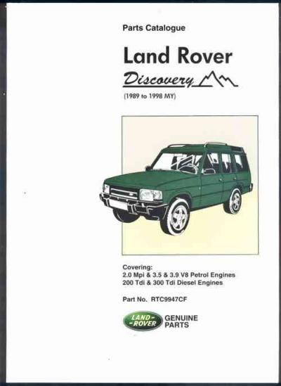 Land Rover Discovery 1989 1998 Parts Catalogue   Brooklands Books Ltd UK