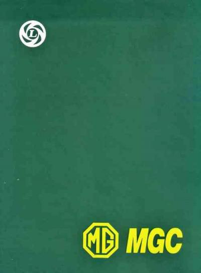MG MGC 1967 1969 Workshop Service Repair Manual   Brooklands Books Ltd UK