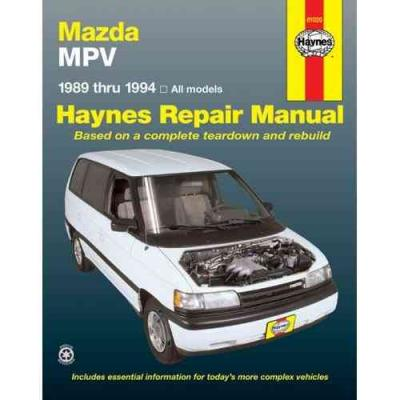 Mazda MPV 1989 1994 Haynes Service Repair Manual
