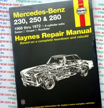 Mercedes Benz 230, 250 and 280 - Haynes - NEW
