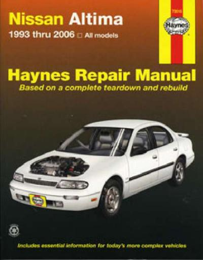 Nissan Bluebird ( Altima) 1993-2006 Haynes Service Repair Manual