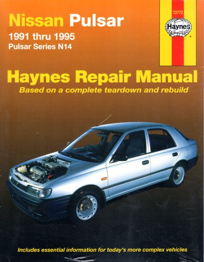 Nissan Pulsar N14 1991 1995 Haynes Service Repair Manual