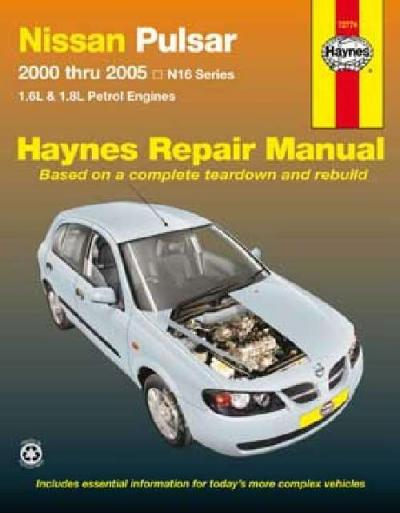Nissan Pulsar N16 2000 2005 Haynes Service Repair Manual