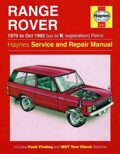 Range Rover V8 1970 1992 Haynes Service Repair Manual