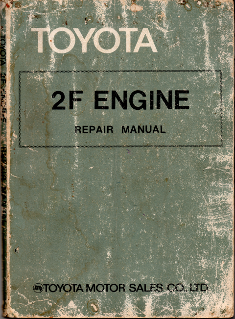 Toyota 2F engine repair manual USED