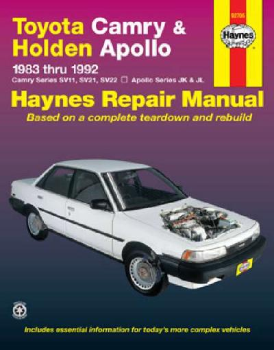 Toyota Camry Holden Apollo 1983 1992 Haynes Service Repair Manual