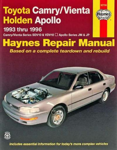 Toyota Camry Vienta Holden Apollo 1993-1996 Haynes Service Repair Manual