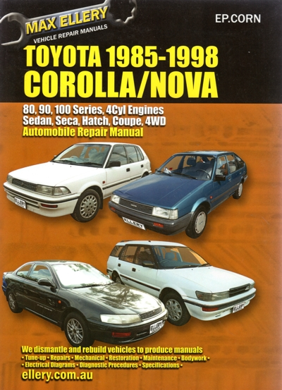 Toyota Corolla 1985-1998 repair manual NEW
