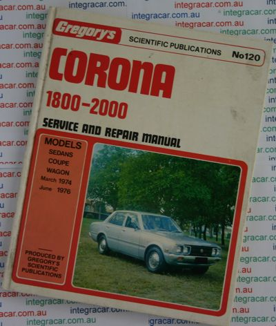 Toyota Corona 1800-2000 repair manual 1974-1976