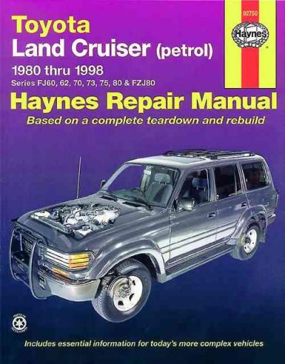 Toyota Land Cruiser Petrol 1980-1998 Haynes Service Repair Workshop Manual