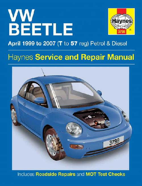 Volkswagen VW Beetle 1999-2007 repair, workshop manual NEW