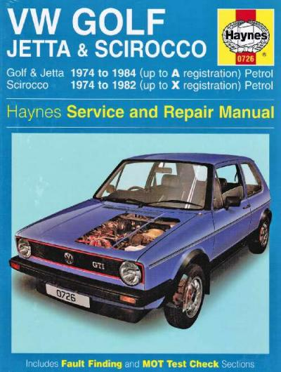 VW Volkswagen Golf Mk I Jetta Scirocco 1974 1984    UK