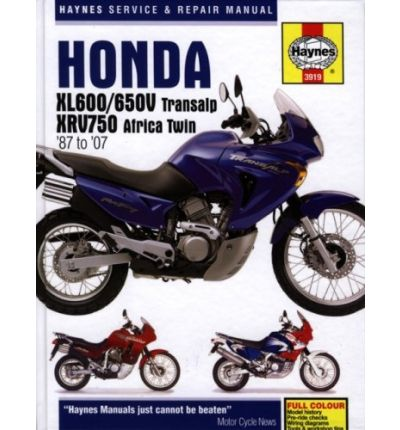 Honda XL600/650V Transalp and XRV750 Africa Twin Service and Repair Manual