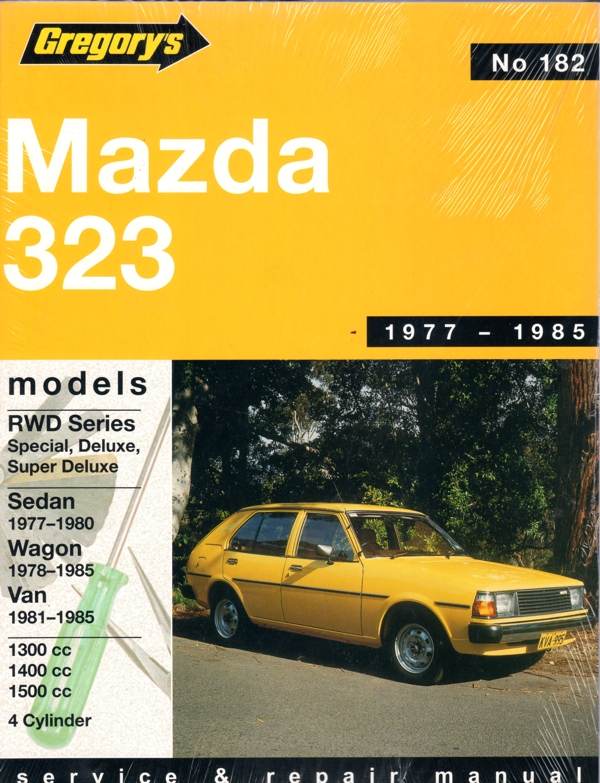 Mazda 323 Rear Wheel Drive 1977 1985 Gregorys Service Repair Manual
