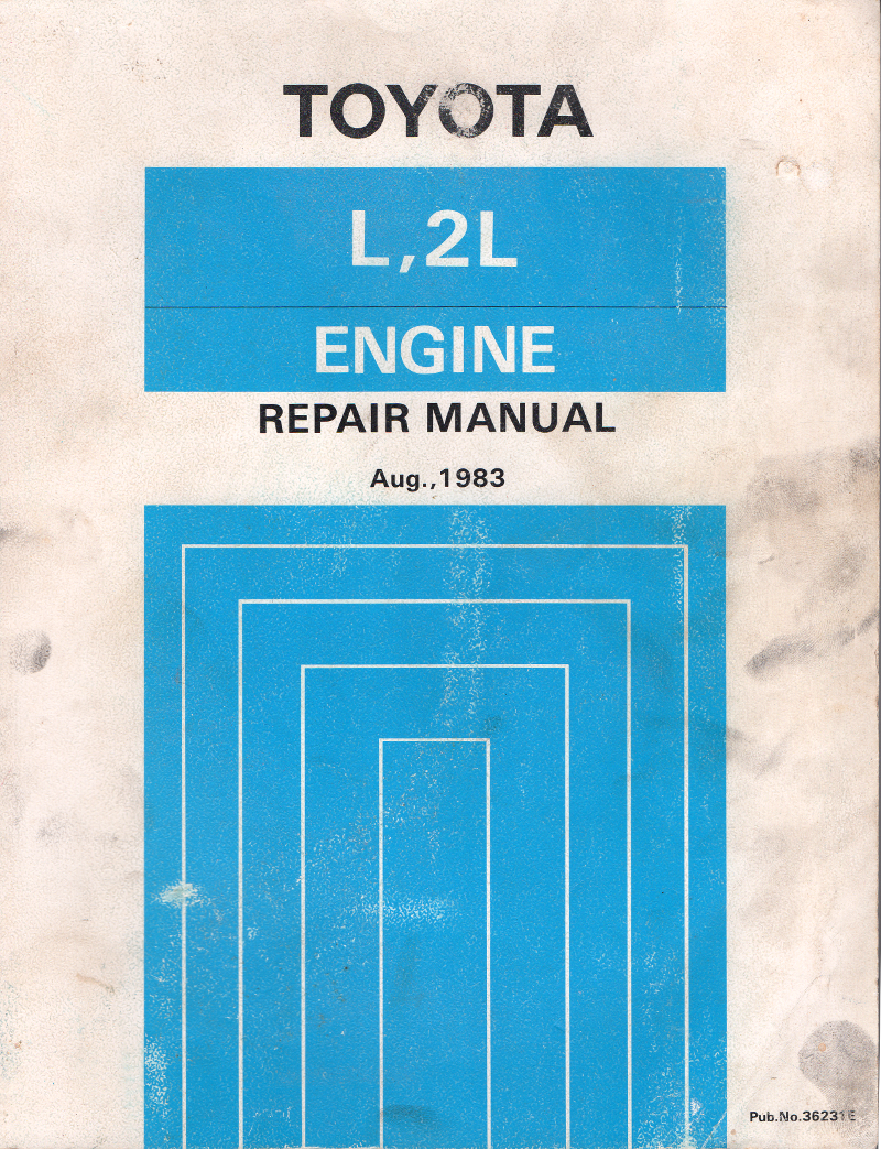 Toyota L 2L engine workshop manual USED