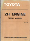 Toyota 2H engine repair manual USED