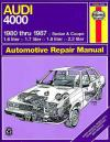 Audi 4000 1980 1987 Haynes Service Repair Manual