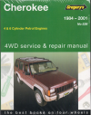 Jeep Cherokee Petrol 1984-2001 Gregorys Workshop Manual