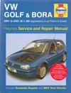 VW Golf and Bora Service and Repair manual Haynes 2001-2003  NEW