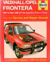 Holden Frontera Service Repair Manual