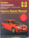 Holden Commodore VE Series 2006-2017 Haynes workshop repair Manual
