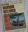 Honda Accord repair manual 1977-1981
