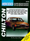 Mercedes Benz Coupes/Sedans/Wagons - Chilton - NEW